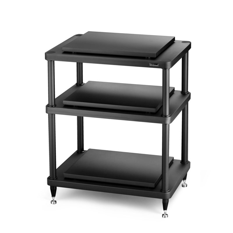 solid steel S5-3 Hi-Fi Audio Rack black