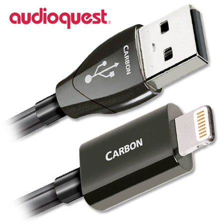 AudioQuest Carbon USB to Lightning Cable 0.75m