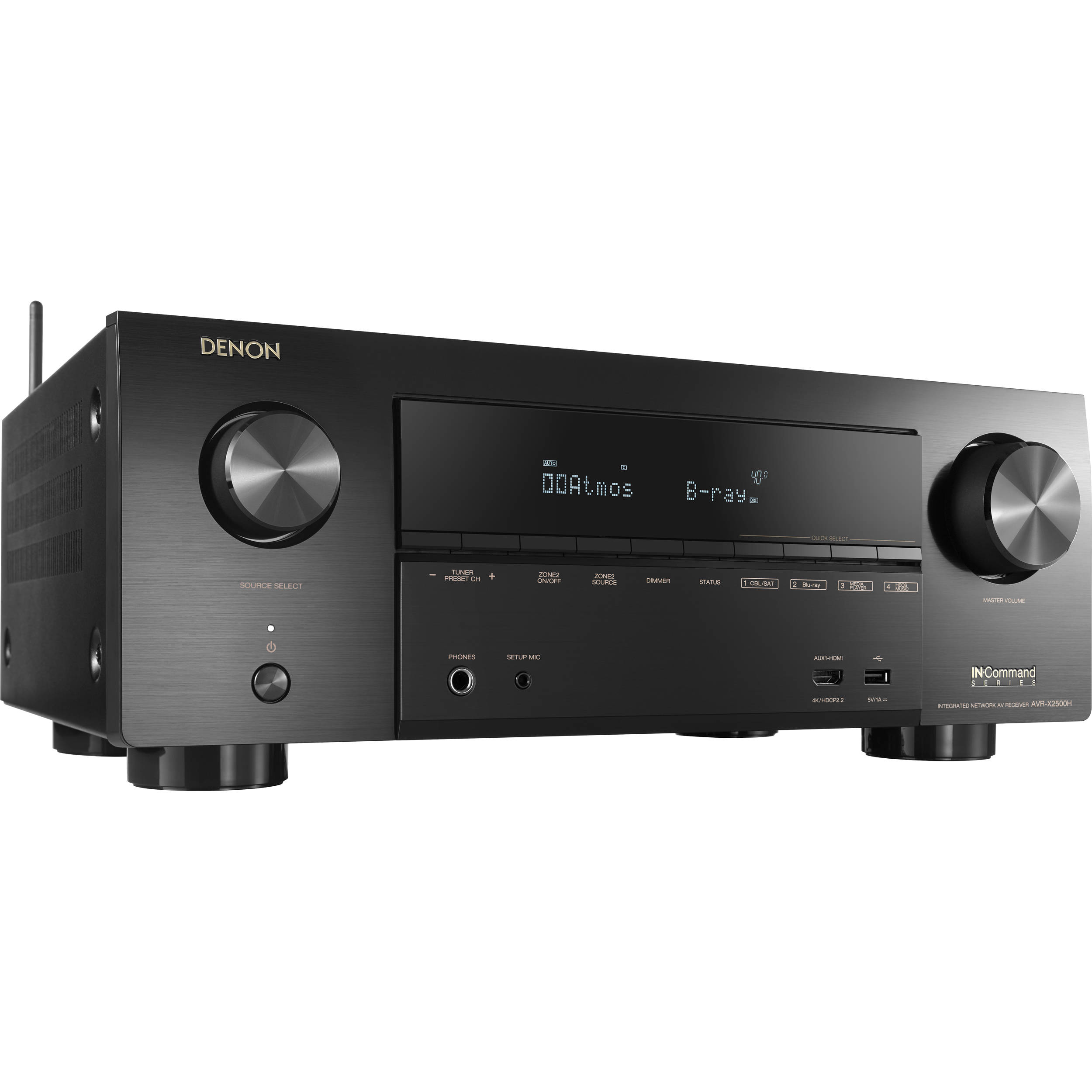Denon AVR-X2500H 7.2-Channel Network A/V Receiver