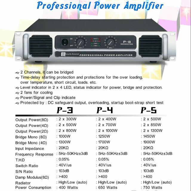 Martin Roland P-4 Professional Power Amplifier
