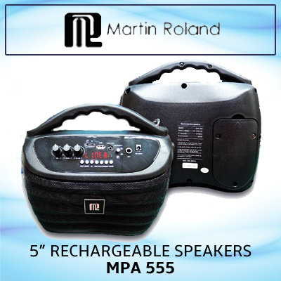 Martin Roland MPA 555 / 5in Reachargeable speakers / 20Hz - 20kH