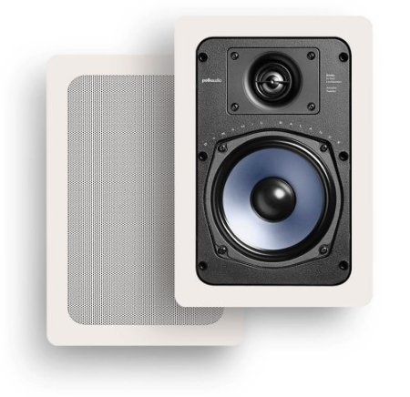 Polk Audio RC55i 2-Way In-Wall Speakers (Pair, White)