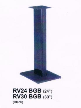 Queenie RV24 BGB Ultra Glass Speaker Stand (24 Inch)