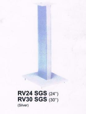 Queenie RV24 SGS Ultra Glass Speaker Stand (24 Inch)