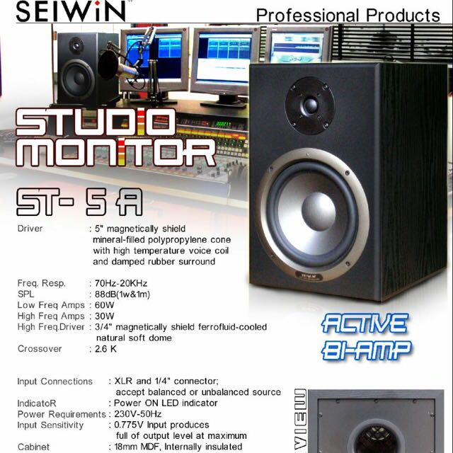 Seiwin Active Bi-Amp ST-5A (1pc) New
