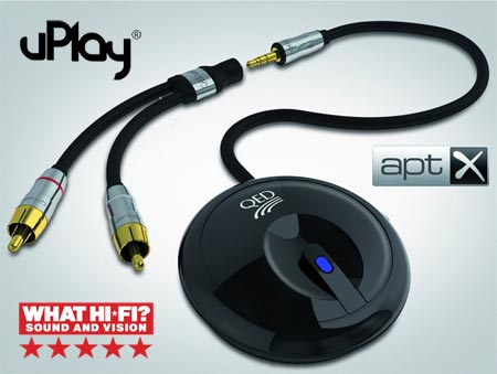 QED uPlay Puck Wireless Bluetooth Receiver
